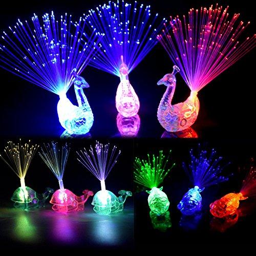 Dsaren Finger Light, 16 Pcs LED Fibra Optica Color Cambiante Destello Mágica Luz Luminosas para Fiestas para Concierto, Espectáculos, Bodas y Bar
