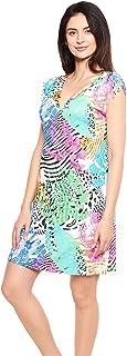 Rösch Beach 1215551-16364 Women's Multicolor Leaves Beach Dress