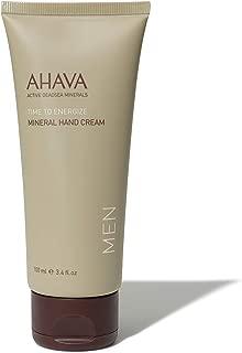 AHAVA Men's Dead Sea Mineral Hand Cream, Time to Energize - 3.4 Fl Oz