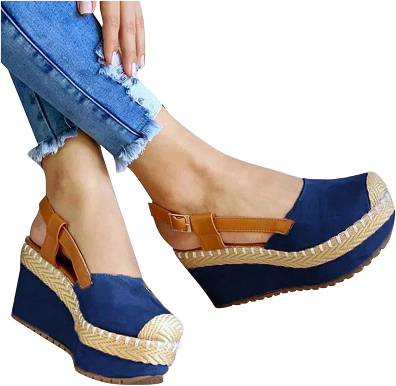 Padaleks Ranking TOP2 Women's Ankle ! Super beauty product restock quality top! Strap Espadrille H Platform Sandals Wedge