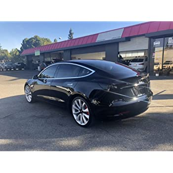 AY Customs Tesla Model 3 Tail Light Reflectors Smoke Tint Film Vinyl Covers Tail Light Tint Film Version 2 Only
