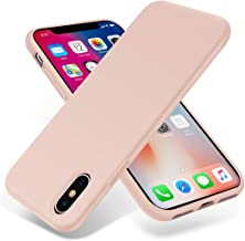OTOFLY iPhone Xs Case/iPhone X Case,Ultra Slim Fit iPhone Case Liquid Silicone Gel Cover with Full Body Protection Anti-Scratch Shockproof Case Compatible with iPhone X/XS, Pink [Upgraded Version]