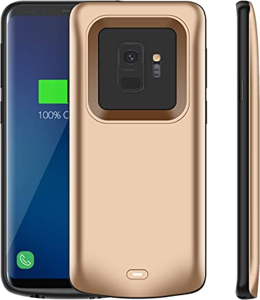 Galaxy S9 Battery Case, Modernway 4700mAh Slim Portable Extend Battery Pack Charger Case, Rechargeable Charging Case for Samsung Galaxy S9(Gold)
