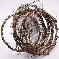 1本乾燥枝ガーランドグリーンリーフ造花つるナチュラ籐リースDIY素材ウェディングデコレーションフローtz001