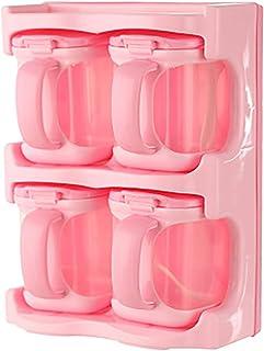KAYBELE 1/2/3/4 Grids Cuisine Organisateur Boîtes de Rangement avec cuillères Conteneurs en Plastique Condiments Multi-uti...