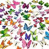 96pcs Extraíbles Coloridas de Mariposa 3D,Manualidades Mariposas,Calcomanías de mariposas,Mariposas para Arte de Bricolaje,Decoración del Hogar,Escaparates,Bodas,Accesorios de Fotografía,8 Colores