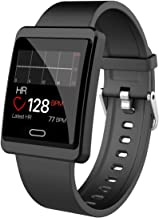 maxtop Smart Watch for Android Phones - iOS Phones, Full Screen Large Size Metal Shell Clear Interface Smartwatch for Women Men and Teenager Black