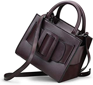 Fashion Leather Ladies Handbag/Bark Diagonal Shoulder Bag/Outdoor Rational Business Backpack (Color : Brown)