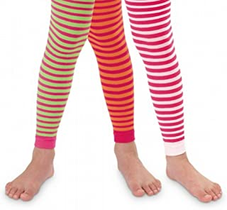 Jefferies Girls Bold Striped Footless Tights Size 2 to 10 years- 3 Color Combinations!!