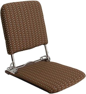 【軽量折りたたみ式で気軽に持ち運び】 日本製 3段階リクライニング 座卓チェア (ブラウン)