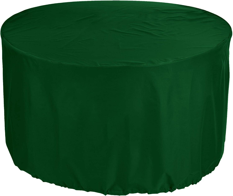 ngioePrima de jardín mesa de tapa Ø 280x80 cm longitud externa muebles panel de cubierta de la silla de cubierta de la silla de jardín y ropa de mesa redonda en polvo del patio impermeable 600...