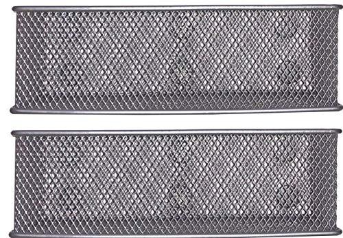 Magnetic Locker Basket Refrigerator Marker Holder Magnetic Basket for Whiteboard - 7.8' Wide-6 Strong Magnets-Set Of 2-Silver