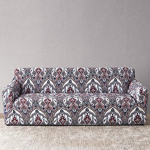 Funda de sofá a Cuadros Funda elástica Fundas de sofá para Sala de Estar Esquina sofá Toalla Funda de sofá Protector de Muebles A18 2 plazas