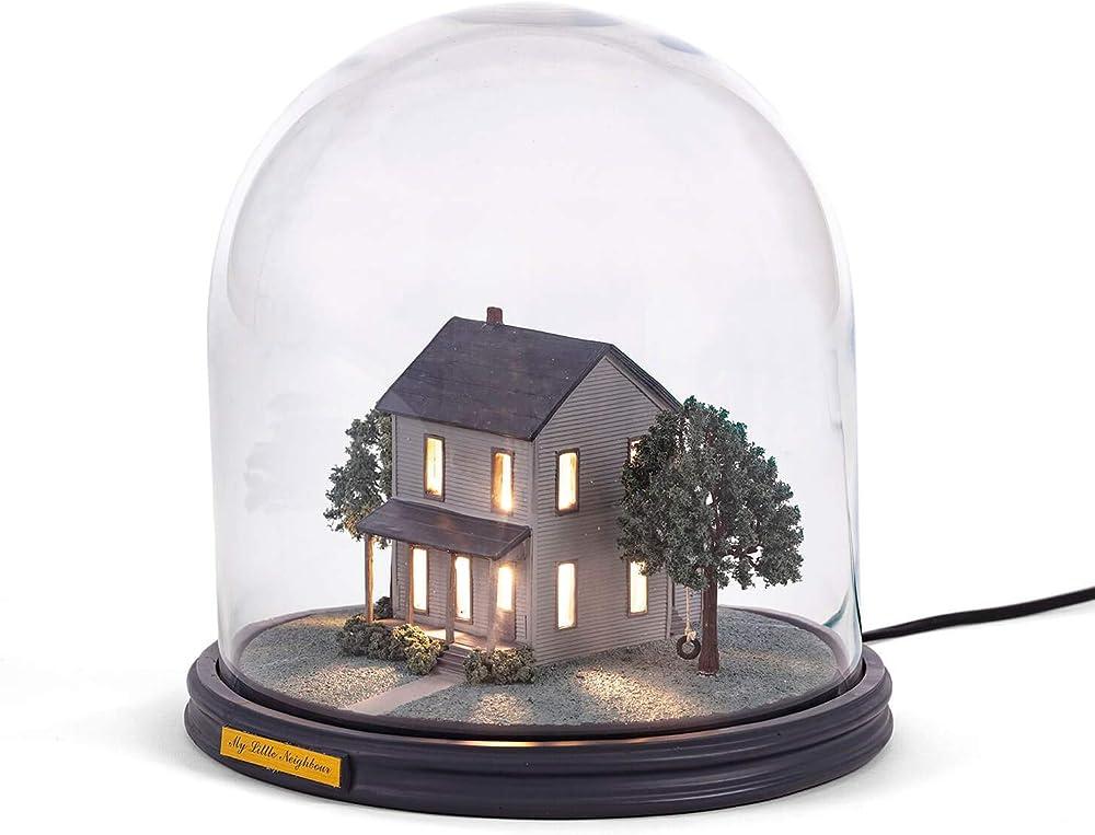 Seletti, lampada da tavolo, in resina e vetro, my little neighbour 10462