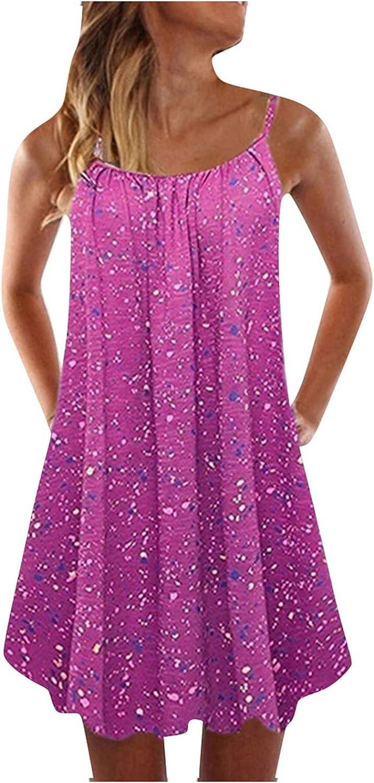 Sun Dresses Women Summer Fashion Women O-Neck Sleeveless Printed Casual Boho Style Long Maxi Dress Casual Sexy Boho