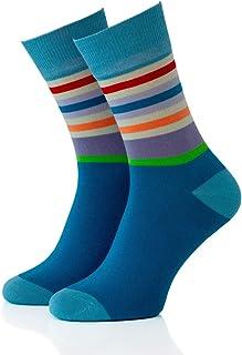 Remember, Remember Calcetines para hombre modelo 25 con rayas y coloridos en talla 41-46 | Se pueden lavar a máquina | Comodidad: suaves, cálidos y superelásticos, perfecto para la temporada de frío