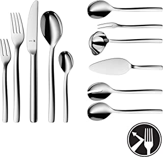 WMF Cutlery Set ATIC Cromargan Protect Stainless Steel Brushed Extremely Scratch Resistant monobloc Knives - 66-Pieces 12 People