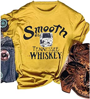 Women Smooth as Tennessee Whiskey Country Music T Shirt Women Teen Girl Nashville Concert Tee