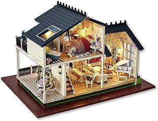 ドールハウスミニチュアDIYハウスキット、手作りの教育玩具建築モデル誕生日プレゼント - 新しいプロヴァンス
