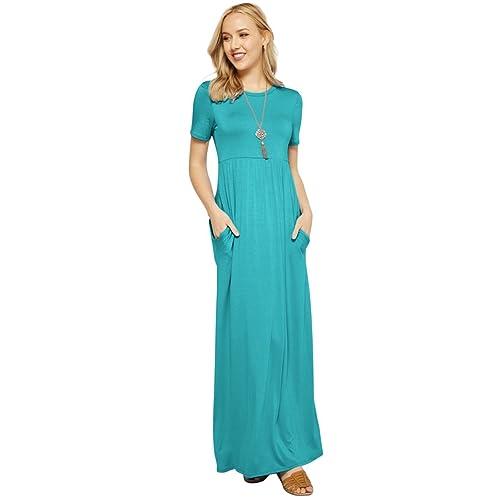 Turquoise Maxi Dress Amazoncom