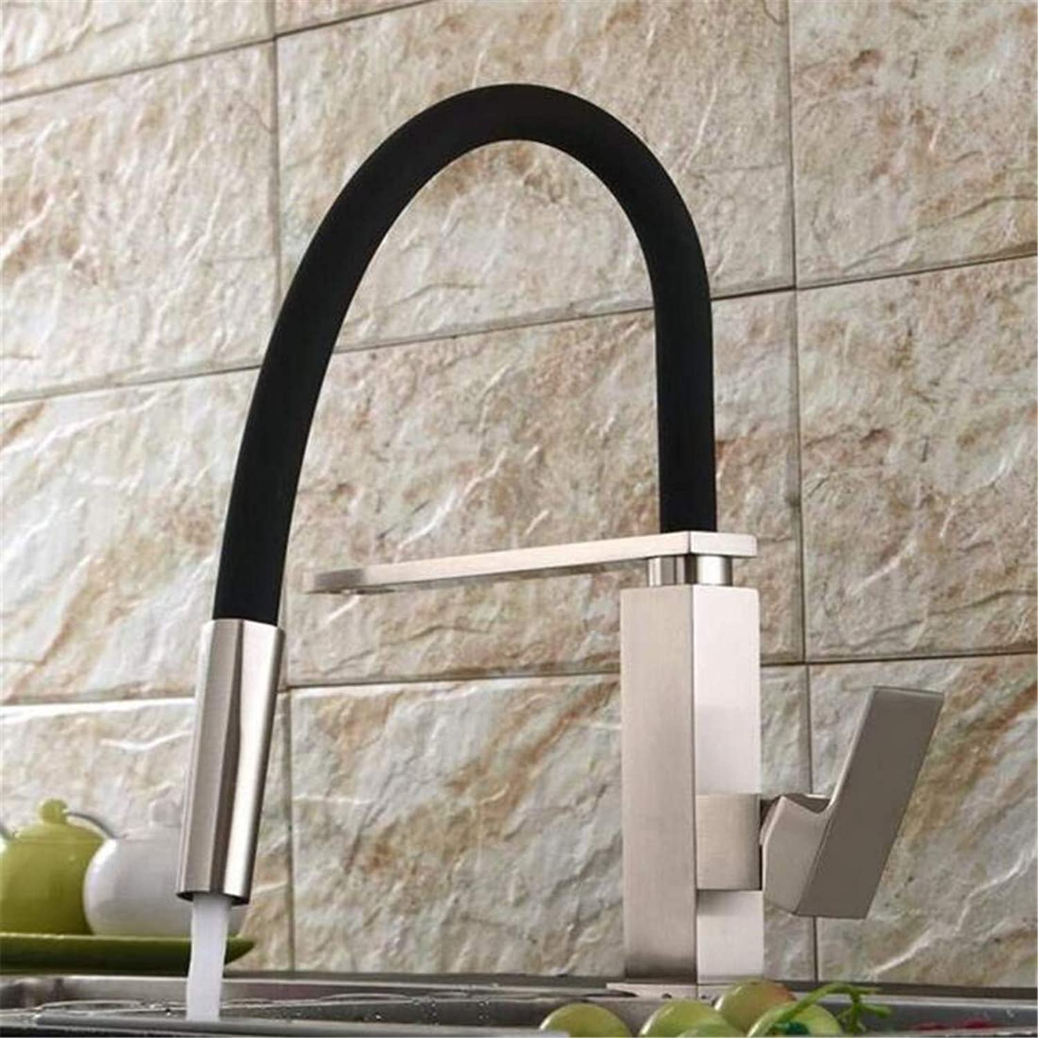Chrome Kitchen Sink Tapbrushed Nickel Kitchen Faucet Pull Out Down Kitchen Mixer 360 Swivel Brass Sink Tap B-9204L