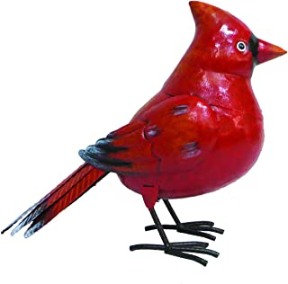 BACKYARD EXPRESSIONS PATIO · HOME · GARDEN 905745 Metal Bird Statue, Red