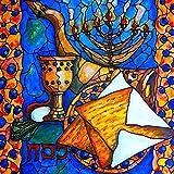 (24x24cm)Hanukkah Full Diamond Painting Cartoon Happy Hanukkah 5D DIY Diamond Embroidery Kit Rhinestone Mosaic Cross Stitch Gifts