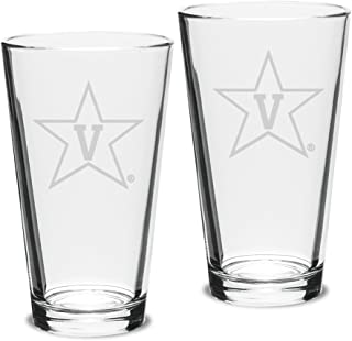 Set of 2 - 16 oz Pub Mixing Gl - Deep Etch Engraved One Size white