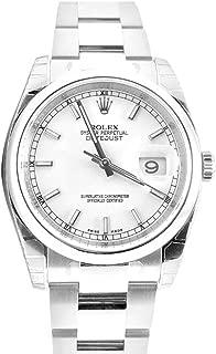 Rolex Datejust 36 White Index Dial Steel Oyster Watch 116200