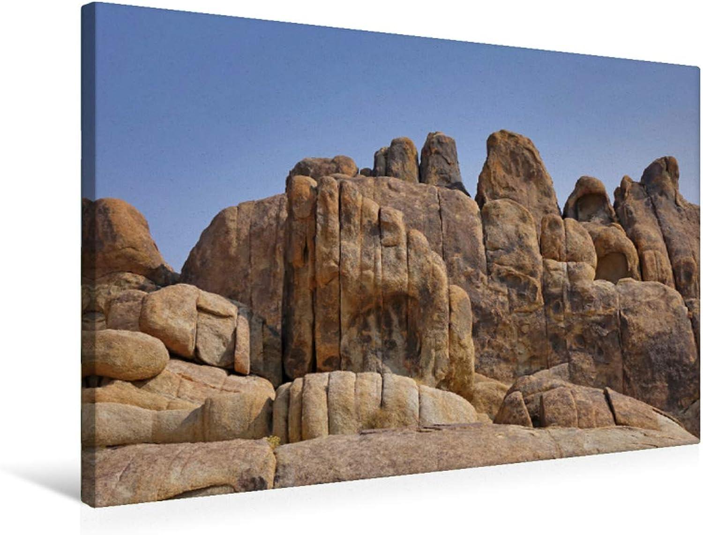 Premium Textile Canvas 75 cm x 50 cm Cross Bizarre Rock Formations in The Alabama Hills California