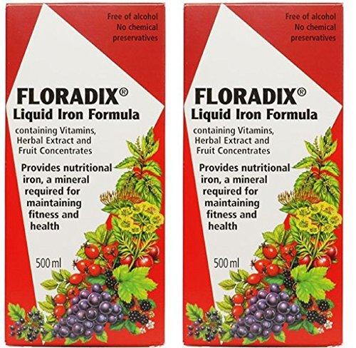 (2 Pack) - Floradix - Floradix Liquid Iron Formula | 500ml | 2 PACK BUNDLE by Floradix