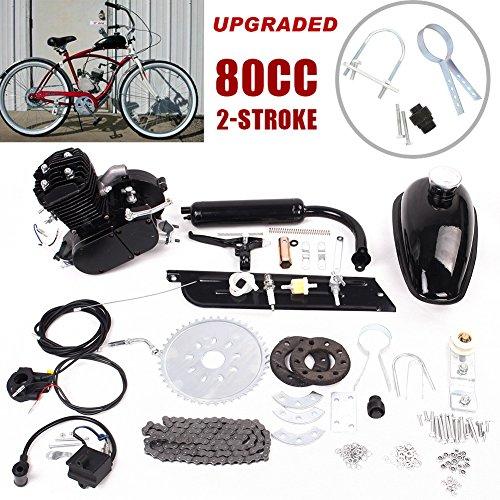 80cc Bicicleta Bicicleta Motorizada Motor de Gasolina de 2 Tiempos Kit de Motor Juego de Motor Negro