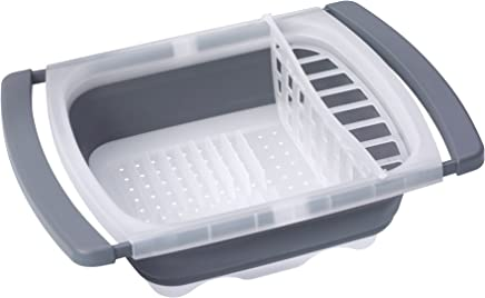 Prepworks by Progressive Collapsible Over-The-Sink Dish Drainer, Large Washing Basin, Dish Tub