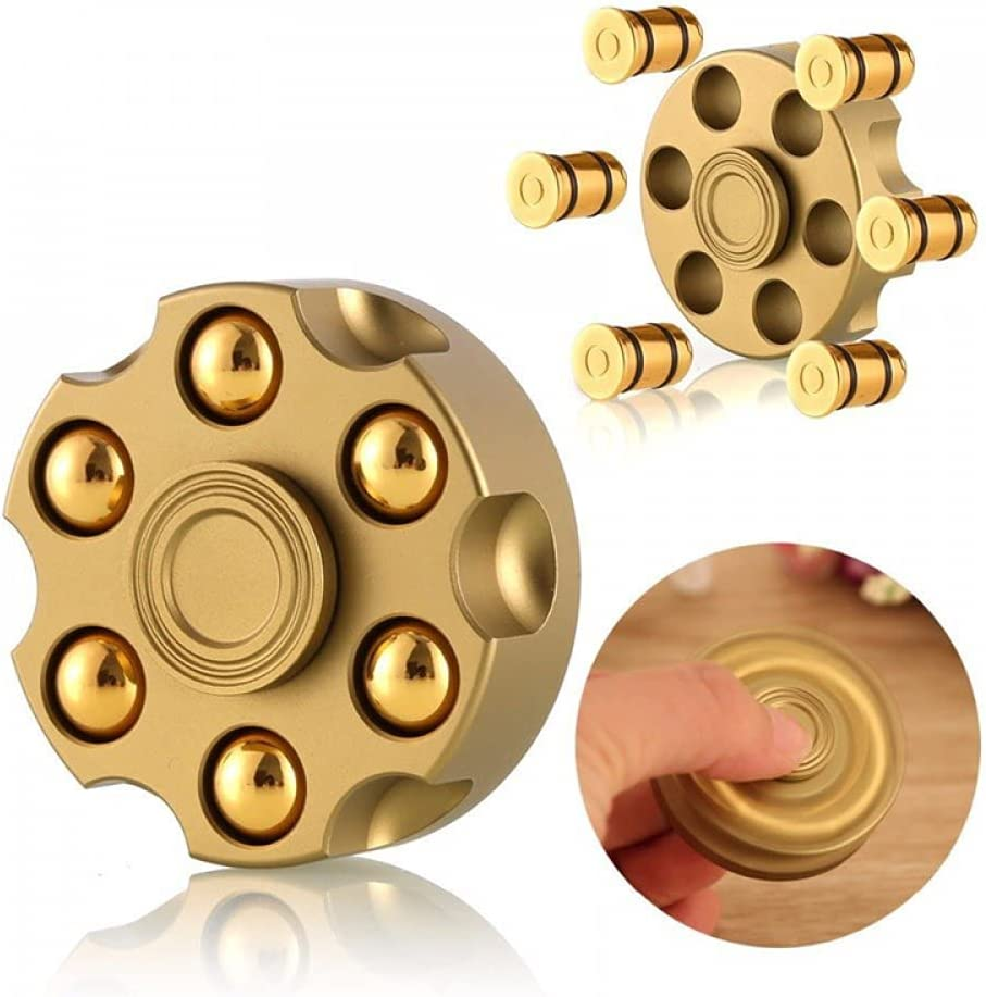 yzx Golden Metal Hand top Toy Copper Spinner, Small Size, Easy t