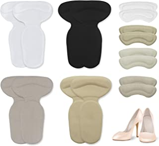 Monato Heel Cushion Inserts - Silicone High Heel Grips/Heel Pads for Women, Heel Protectors Improve Foot Pain, Rubbing(8 Pairs)