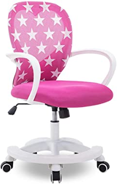 Chairs Liftable Children's Study Chair Student Computer Chair seat Chair Home Children's Chair (Color : Pink)