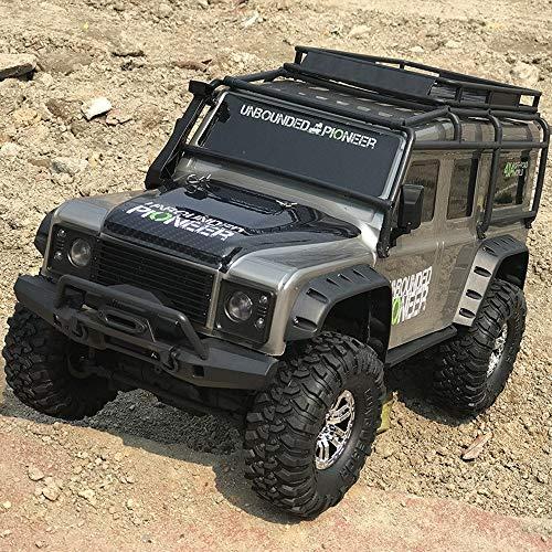 MUMUMI 1/10 4 × 4 Neumáticos Gran absorción de Choque y Monster anticolisión RC Camiones, a 10 km de Alta Velocidad/h de Carga RC Buggy, Campo a través del Coche de RC, Control Remoto de Coches de j