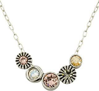 Pennies from Heaven Necklace in Silver, Champagne