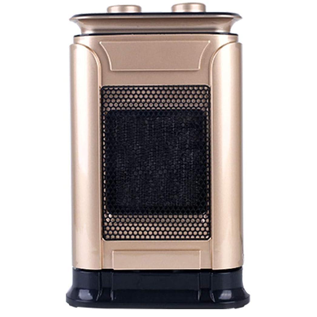 ライバルキルス無駄KLSJJ ヘッド機能を振る調節サーモスタットと過熱保護との3つの動作モードと調節可能なサーモスタット付き1500Wミニセラミックスペースヒーター、 (Color : Gold)