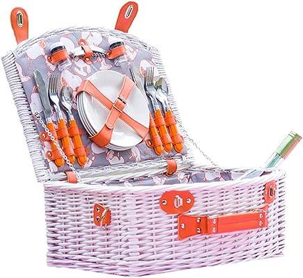 SXY-picknicktasche Picknickkorb-Rattanpicknickkorbisolierungpicknickkastenpicknickkostladen-Westkorb mit Deckelspeicherkorb (Farbe (Farbe (Farbe   Orange) B07PKF7VV4 | Eine Große Vielfalt An Modelle 2019 Neue  003962