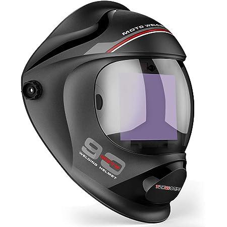 Details about  / Silver Solar Powered Auto Darkening Welding Helmet Welder Mask Large View