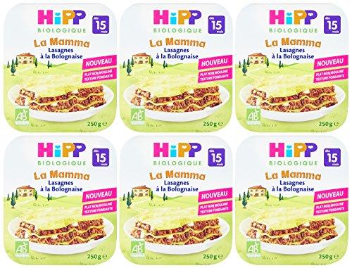 Hipp Biologique La Mamma Lasagnes à Bolognaise dès 15 mois - 6 assiettes de 250 g