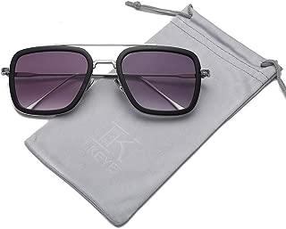 Square Sunglasses For Unisex Goggle Classic Alloy Frame Gradient Lens Tony Stark LK1803