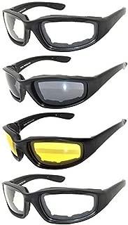 Gafas para Moto y Montar, Juego de 4 pares de Gafas Para Ciclistas Todo Tiempo Para Actividades al Aire Libre