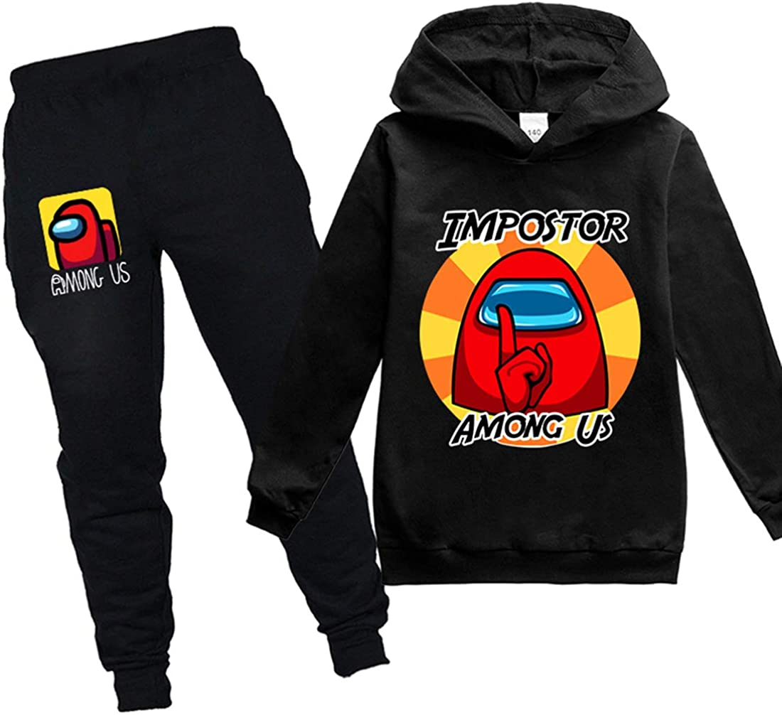 MINIDORA Among Us Sweat /à Capuche imprim/é en 3D Homme Sweatshirt de Jeu