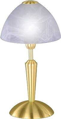 Wofi 847401320000 Morley Lampe de Table Laiton Mat 33 cm