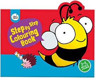 JarMelo 20 Animals Bee Step by Step Colouring Book