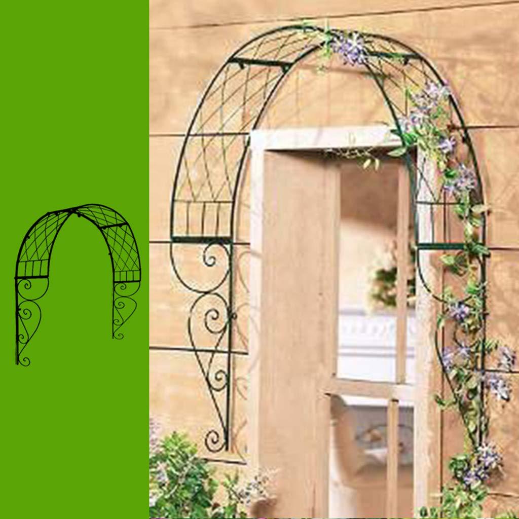 XLOO Ajustable, Arco de jardín al Aire Libre, moldura de Puerta al Aire Libre, cenador Decorativo de Metal para jardín, cenador de jardín para Varias Plantas trepadoras, Patio de jardín al Aire