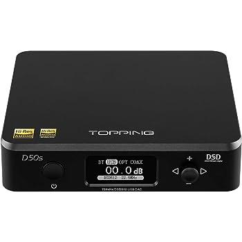 Topping D50s DAC 2 ES9038Q2M DSD512 a 32 bit 768 kHz HIFI LDAC Bluetooth XMOS XU208 decoder (Nero)