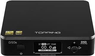 Topping D50s DAC 2 ES9038Q2M 32bit 768kHz DSD512 XMOS XU208 Bluetooth LDAC HiFi Decoder (Black)
